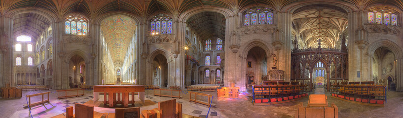 Ely cathedral - 360 degrees panoramic view