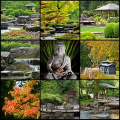 Japan Zen Buddhismus Collage