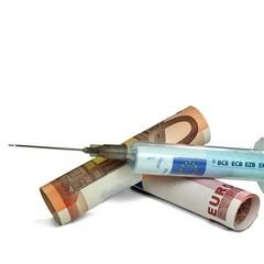 Finanzspritze Euros Ausschnitt