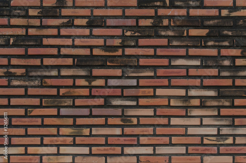 old brown brick wall