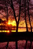 Amazing evening sunset view.