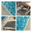 Piscine, bain, été, vacances, plage, eau, baignade, terrasse