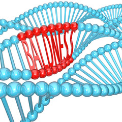 Baldness - Hereditary Genetics in DNA Strand