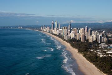 Gold Coast Queensland Australia Coastline Aerial View