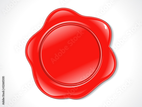 abstract red glossy rubber stamp