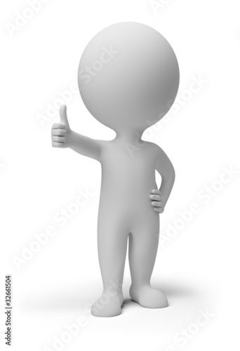 3d small people - positive pose