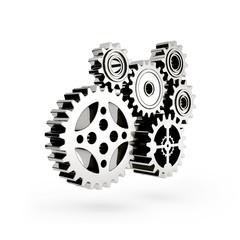 The mechanism. Gear 3d.