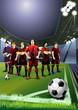 football team. soccer players