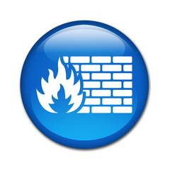 Boton brillante simbolo FIREWALL