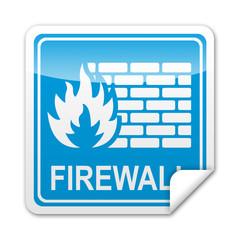 Pegatina cuadrada FIREWALL con reborde