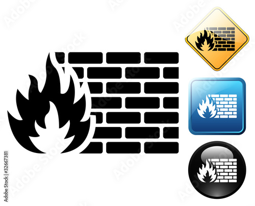 Firewall pictogram and signs