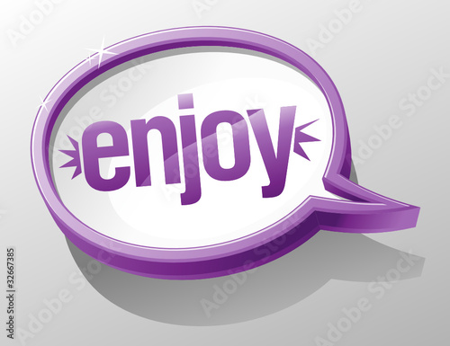 Enjoy shiny glass speech bubble.