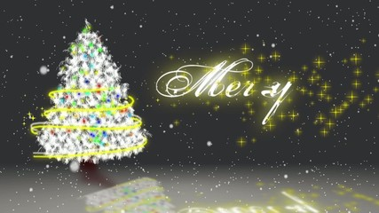 white  chrismas with merry chrismas message