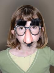 Little Girl Funny Face Mask