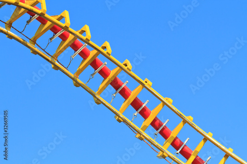Rollercoaster (against blue sky)
