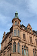 historisches Eckhaus in der Altstadt von Heidelberg