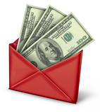 Mail in rebate in red envelope