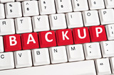Backup word on keyboard poster