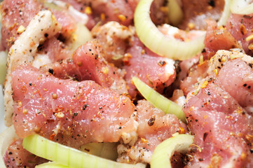 Raw Meat with Onion and Spices