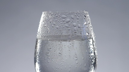 Fresh water in glass