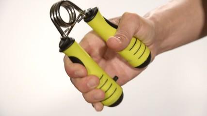 esercizio con hand grip