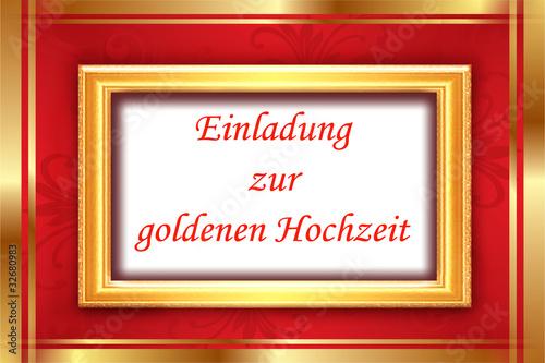 einladung zur goldenen hochzeit, karte, schild