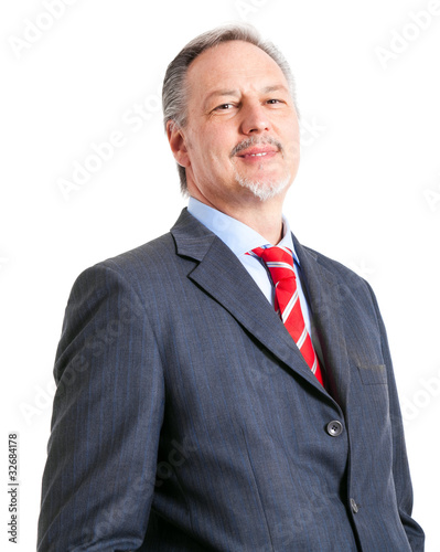 Positive mature businessman portrait