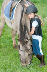 Best friends - little jockey and horse