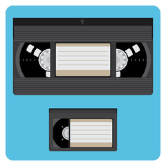 VHS & Mini Video Cassette Video Fully Editable Illustration