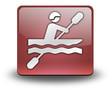 "Red 3D Effect Icon ""Kayaking"""
