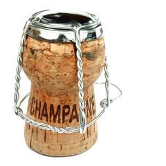 Champagnerkorken mit Draht