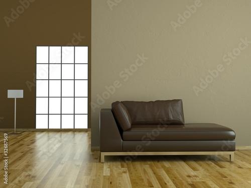braunes ledersofa modernes design stockfotos und. Black Bedroom Furniture Sets. Home Design Ideas