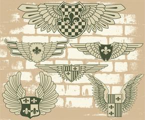 Vintage heraldic wings