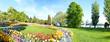 Leinwanddruck Bild - Mainau Panorama