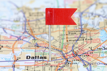 Dallas, United States - on map