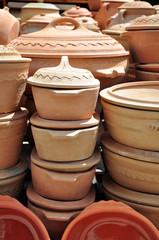 Cheap earthenware pots made on a mountain Zlatibor