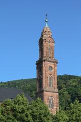 Kirchturm der Jesuitenkirche in Heidelberg