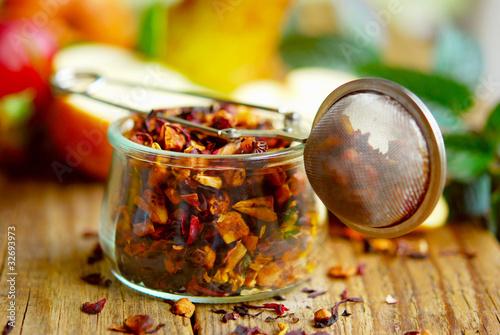 früchtetee - glas