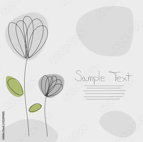 Grusskarte Blumen grau © Sven Maaßen