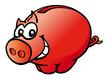 Rotes Sparschwein