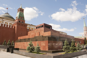 Lenin's mausoleum at Red Square in Moscow, Russia