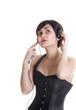 girl wiht headphones