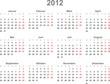Kalender 2012, deutsch, Vektor