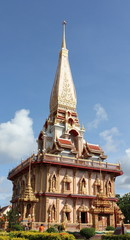 thai design church of Chalong Temple at Phuket