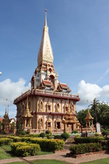 thai church at Chalong Temple in Phuket