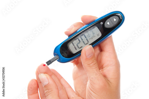 Diabetes measuring glucose level blood test