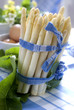 white asparagus just before cook