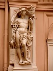 Sculpture of Mercury as architectural decoration