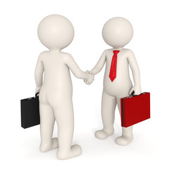 Deal - 3d business people