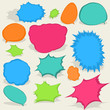 Colorful different Speech Bubbles. EPS8